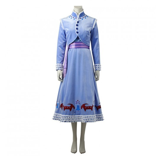 Anna Dress For Frozen Adventure Cosplay