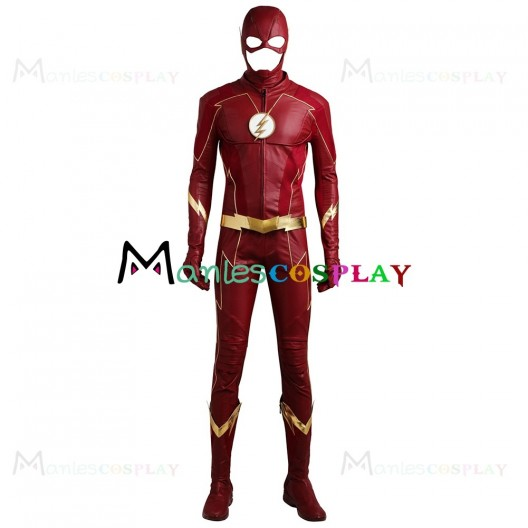 Barry Allen Costume For The Flash Season 4 Cosplay