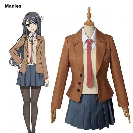 Rascal Does Not Dream of Bunny Girl Senpai Cosplay Sakurajima Mai Costume