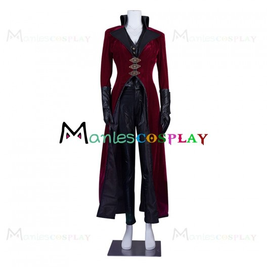 Evil Queen Regina Mills Red Costume For Once Upon A Time Cosplay