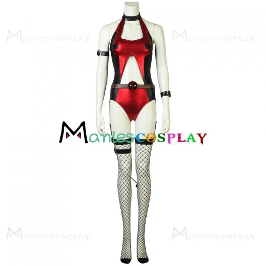 Female Halloween Jumpsuit Costume For Deadpool Cosplay