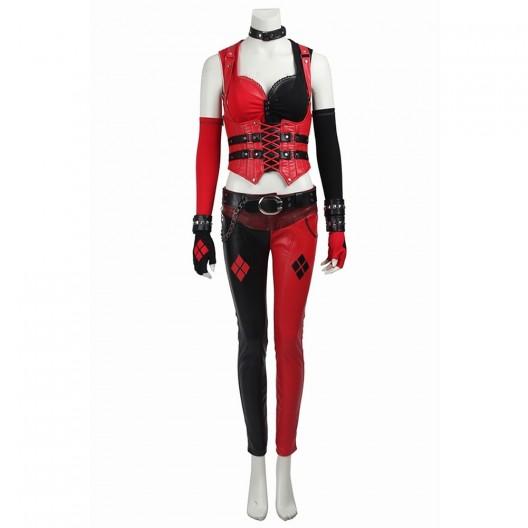 Harley Quinn Uniform Costume For Batman Arkham Knight Cosplay