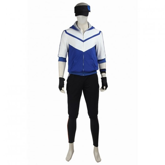 Male Monster Trainer Blue Costume For Pokemon GO Cosplay