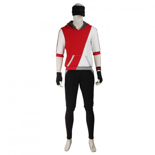 Male Monster Trainer Red Costume For Pokemon GO Cosplay