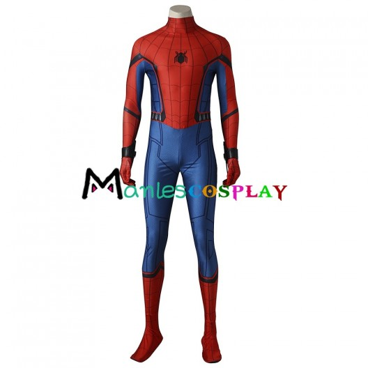 Spider-Man Peter Parker Costume For Spider-Man Homecoming Cosplay