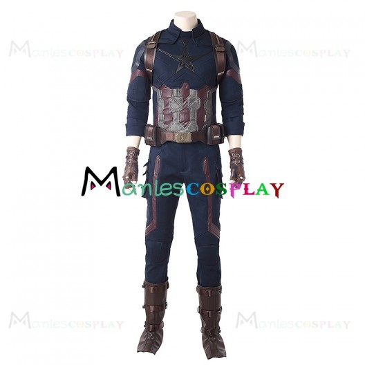 Steve Rogers Costume For Avengers Infinity War Cosplay