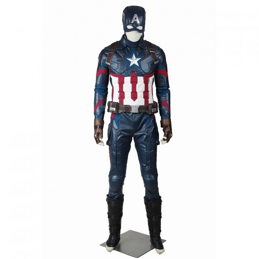 Steve Rogers Costume For Captain America Civil War Cosplay