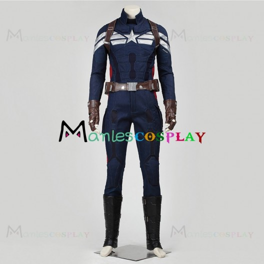 Steve Rogers Costume For Captain America The Winter Soldier Cosplay