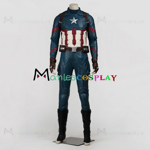 Steve Rogers Uniform For Captain America Civil War Cosplay