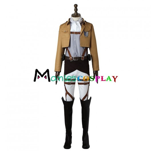 Levi Costume For Attack On Titan Shingeki No Kyojin Cosplay