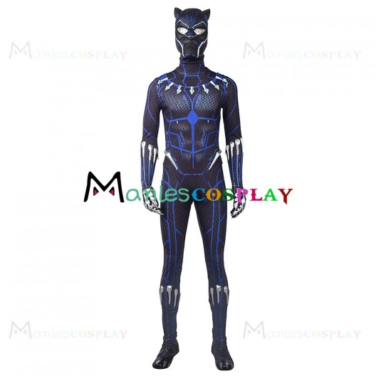 T'Challa Blue Costume For Black Panther 2018 Cosplay