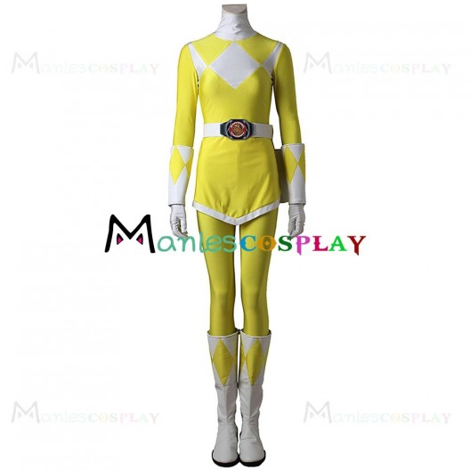 Tiger Ranger Boy Costume For Mighty Morphin Power Rangers Cosplay Women Ver