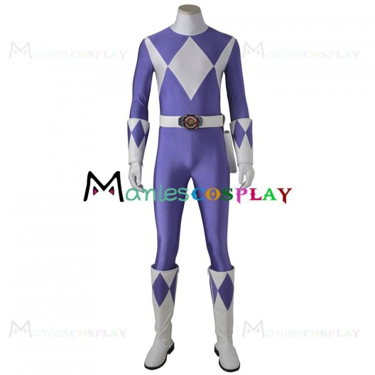 Triceratops Dan Costume For Mighty Morphin Power Rangers Cosplay