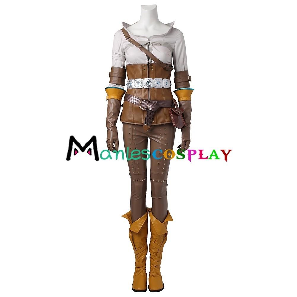Cirilla Fiona Elen Riannon Ciri Costume For The Witcher 3 Wild Hunt Cosplay