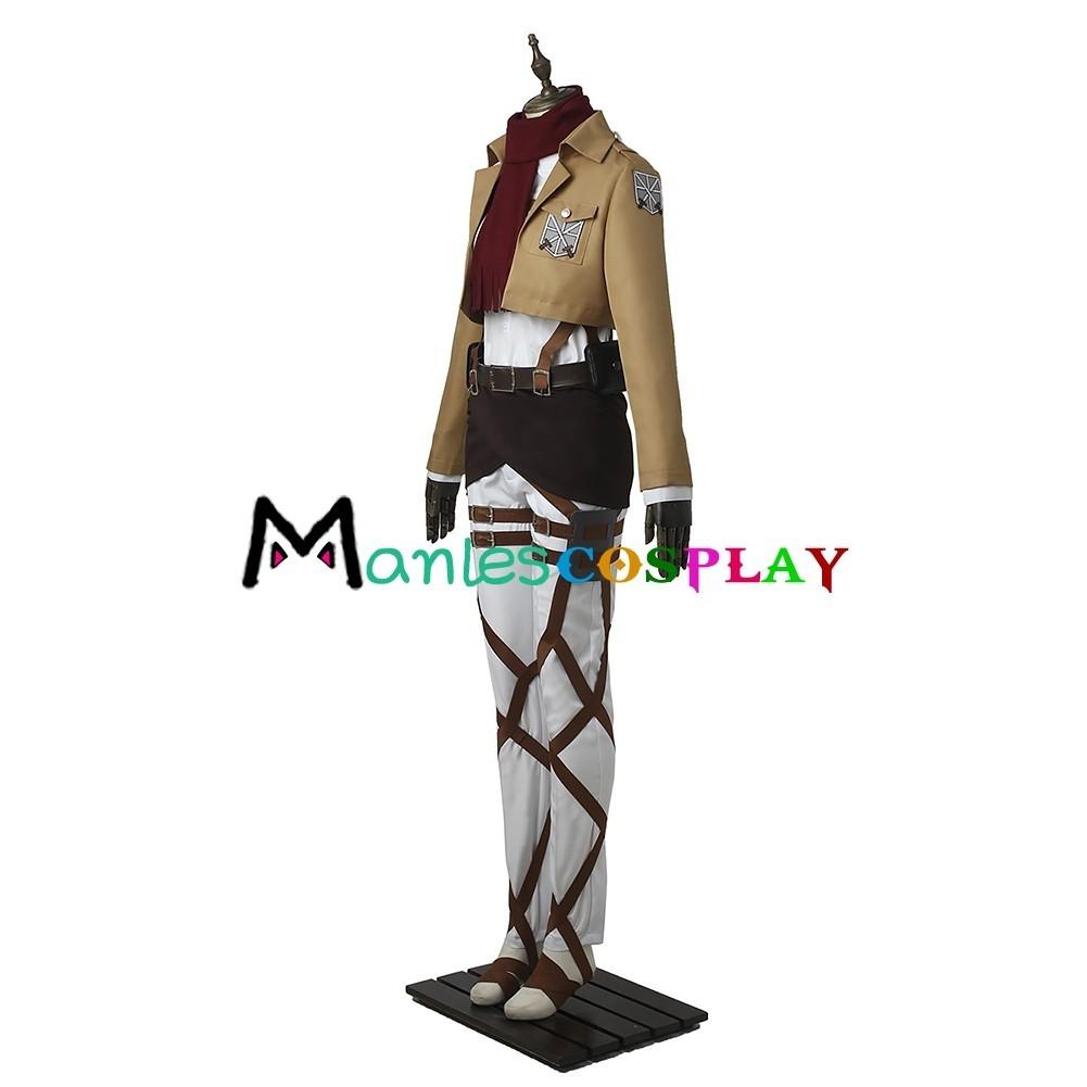 Mikasa Ackerman Costume For Attack On Titan Training ...