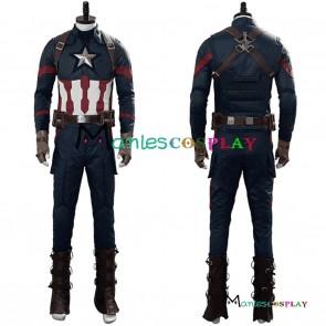Avengers 4 Endgame Captain America Steve Rogers Cosplay Costume