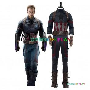 Avengers 3 : Infinity War Captain America Steven Rogers Cosplay Costume
