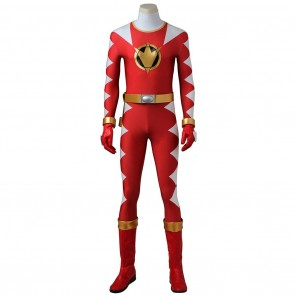 Conner McKnight Red Dino Ranger Costume For Power Rangers Dino Thunder Cosplay