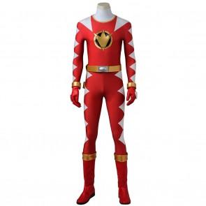 Conner McKnight Red Dino Ranger Costume For Power Rangers Dino Thunder Cosplay