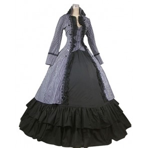 Romantic Romantik Sweet Lolita Spaghetti Strap Long Sleeves Lace Strappy Bowknot Ball Gown Dress