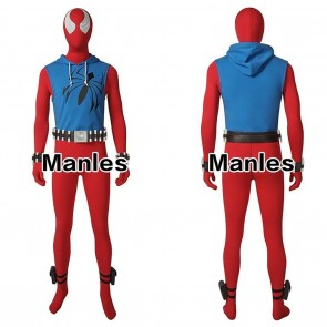 Spider-Man Scarlet Spider Cosplay Costume