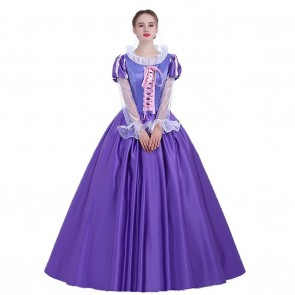 Rapunzel Queen Cosplay Costume Tangled Princess Dress