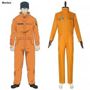 Fire Force Blazing Firefighting Corps Akiratu Oubi Cosplay Costume