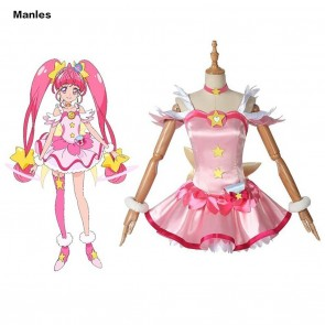 HUGtto! Pretty Cure Star Twinkle Pretty Cure Hoshina Hikaru Cosplay Costume
