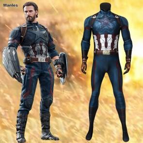 Avengers 3 Infinity War Captain America Steve Rogers Cosplay Costume