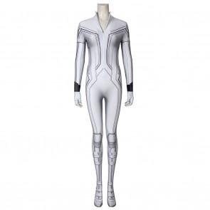 Black Widow Natasha Romanoff Cosplay Costume White Suit Jumpsuit