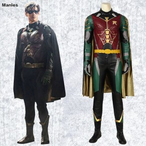 Batman Robin Nightwing Dick Grayson Cosplay Costume
