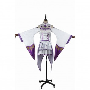 Emilia Costume For Re Zero Starting Life in Another World Cosplay