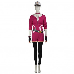 Female Monster Trainer Red Costume For Pokemon GO Cosplay