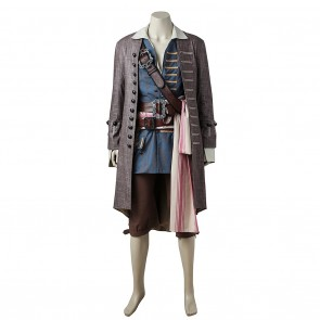 Captain Jack Sparrow Costume For Pirates of the Caribbean Cosplay