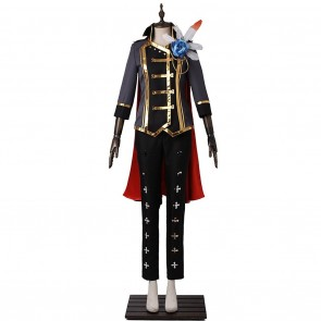 Leo Tsukinaga Black Uniform For Ensemble Stars Cosplay