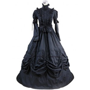 Gothic Punk Lolita Frilled Lace Long Sleeves Ball Gown Dress Prom