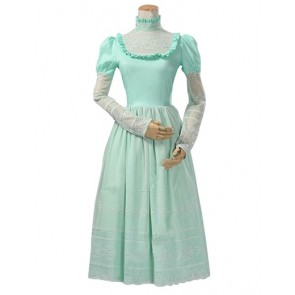 Classic Klassiker Vintage Long Sleeves Lace Tiered Frill Floral Dress