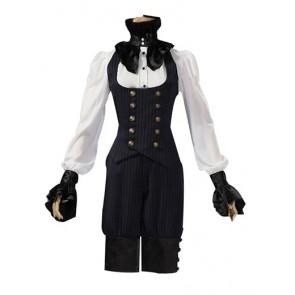 Victorian Punk Gothic Top Vest Trousers Suit