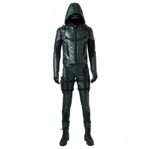 Oliver Queen Costume For Green Arrow Season 5 Cosplay