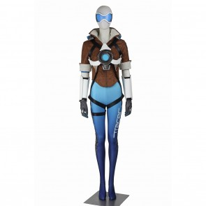 Tracer Lena Oxton Costume For Overwatch OW Cosplay Blue