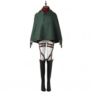 Training Legion Mikasa Ackerman Uniform For Attack On Titan Cosplay With Armor Guard